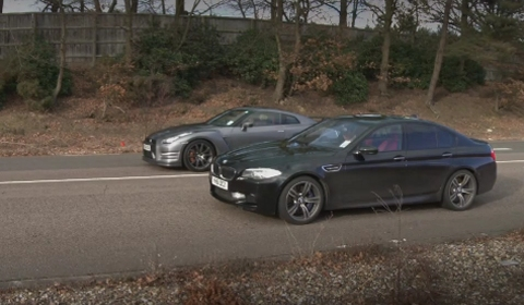 Video 2012 BMW F10M M5 vs 2013 Nissan GT-R
