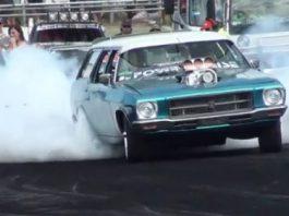 Video Crazy 1200hp Station Wagon Burnout