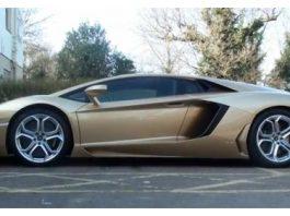 Video Golden Lamborghini Aventador LP700-4