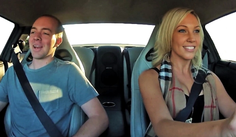 Video Hot Chick Drives Robert's New Nissan GT-R