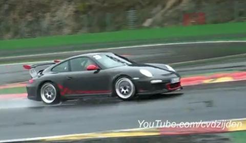 Video Porsche 997 GT3 RS Mk2 at Spa Francorchamps