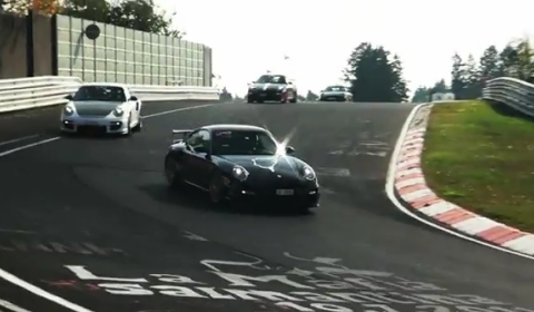 Video Porsche invasion at the Nürburgring Nordschleife