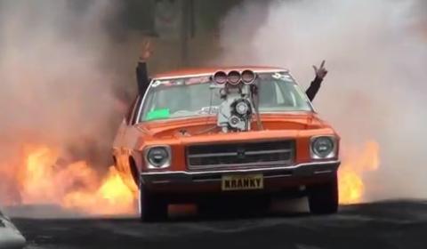 Video Rodney Waters HQ Sedan Burnout at Kandos
