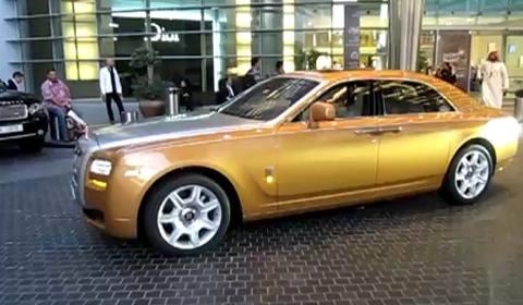 Video Second Golden Rolls-Royce Ghost in Dubai