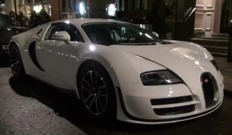 Video White Bugatti Veyron Super Sport Returns to London