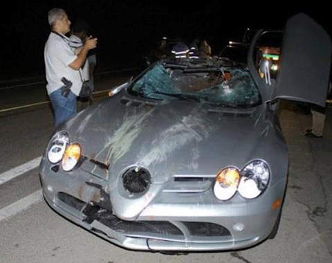 Car Crash: Brazilian Billionaire's SLR McLaren Hits Cyclist
