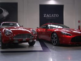 Aston Martin V12 Zagato Visits Zagato Headquarters in Milan