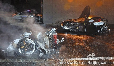 Chinese Government Censor Fatal Ferrari 458 Italia Accident