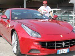 Fernando Alonso Receives His Own Ferrari FF