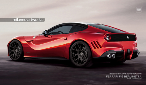 Ferrari F12 Berlinetta with ADV.1 Wheels by Milanno Artworks