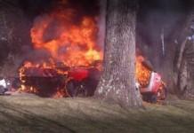 Ferrari 360 Burning Down