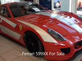 For Sale Ferrari 599XX in the US