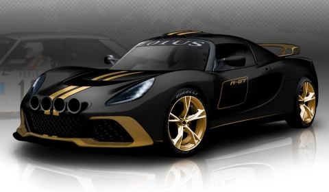 Official Lotus Exige R GT with Black and Gold Colour Scheme