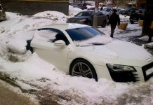 Russian Audi R8 Abandoned in the Snow