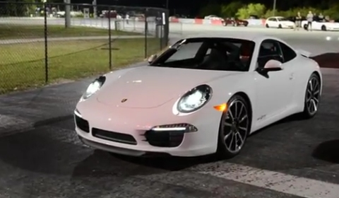 video 2012 porsche 911 991 carrera s runs on quarter mile gtspirit. Black Bedroom Furniture Sets. Home Design Ideas