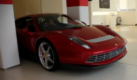 Video Eric Clapton's Ferrari SP12 Leaving London Dealership