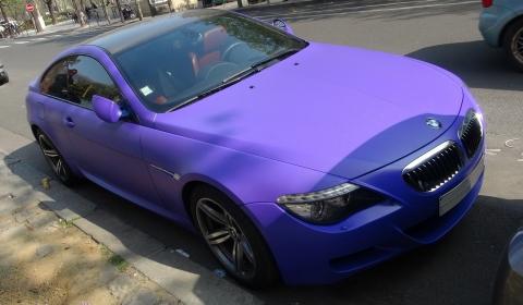 Video Saudi Arabian Purple BMW M6 in Paris