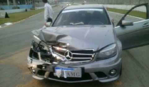 Wrecked Mercedes C63 AMG