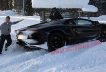 Car Crash Test Driver Crashes Lamborghini Aventador in the Snow
