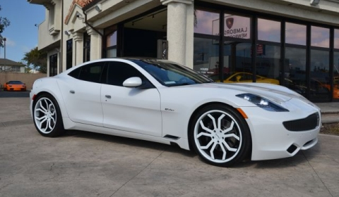 For Sale White 2012 Fisker Karma with Giovanna Wheels