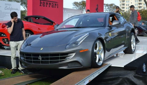 Funny Ferrari FF Accident at Amelia Island Concours D'Elegance 01