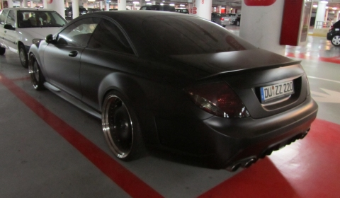 Spotted Matte Black Mercedes-Benz CL Collecting Dust in Marbella 01