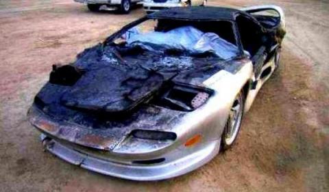 Car Crash 1996 Vector M12 Wrecked Austin Texas