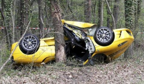 Car Crash Two Casualties in Ferrari 430 Scuderia Accident
