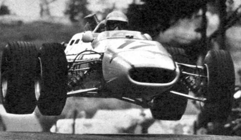 Hubert Hahne in his Lola-BMW at the Nürburgring in the Sixties