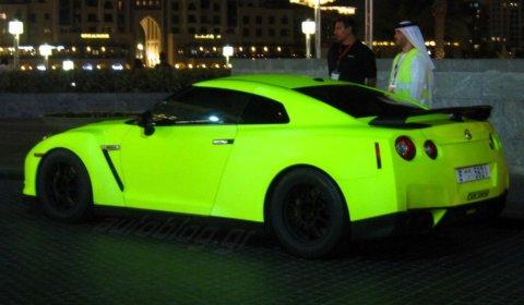 Matte Green Fluorescent Nissan GT-R in Dubai 01