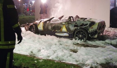 Spyker C8 Spyder Burns Down in Germany