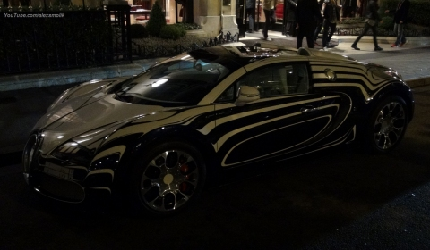 Video Bugatti Veyron L'Or Blanc in Paris