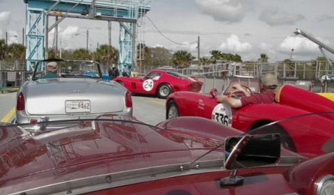 Video Chasing Ferrari 250 GTOs at Amelia Island 2012