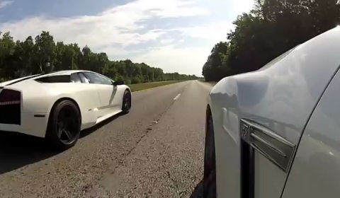 Video Lamborghini Murcielago vs Nissan GT-R Street Race