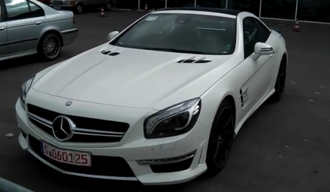 Video Mercedes-Benz SL 63 AMG Spotted at the Meilenwerk in Stuttgart