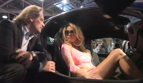 Video Pamela Anderson Visits Gemballa at Top Marques Monaco 2012