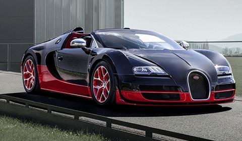 Black Bugatti Veyron 16.4 Grand Sport Vitesse
