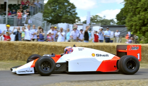 Alain Prost at Goodwood Festival of Speed 2012
