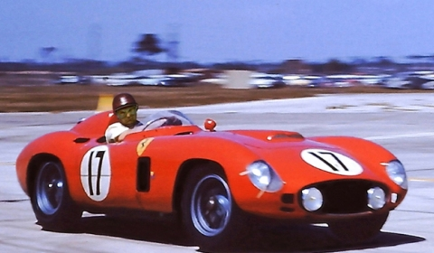 Chris Evans and Lee Westwood in Evans 1956 Ferrari 860 Monza 01