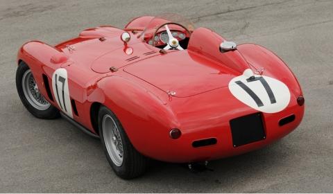 Chris Evans and Lee Westwood in Evans 1956 Ferrari 860 Monza 02