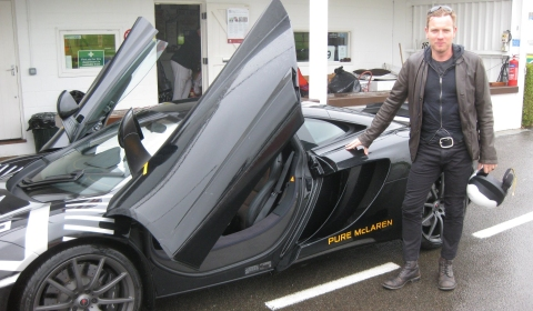 Ewan McGregor Drives McLaren MP4-12C at Goodwood Motor Circuit
