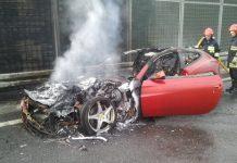 Ferrari FF on Fire in Poland