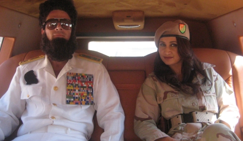 Interior Pictures of Gold Armored Dartz Prombron Wagon Used in The Dictator Movie