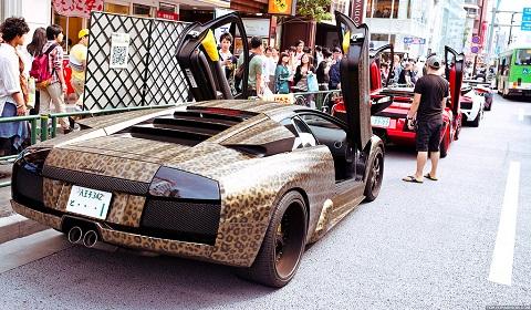 Leopard Print Lamborghini Murcielago in Japan