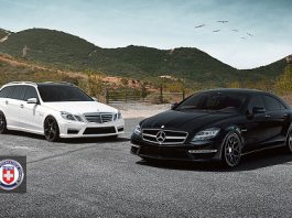 Mercedes-Benz CLS 63 AMG and E63 AMG Estate on HRE Wheels