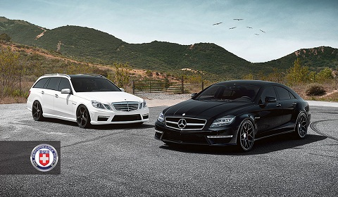 Mercedes Benz Cls 63 Amg And E63 Amg Estate On Hre Wheels