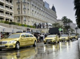 Mercedes-Benz and AMG Use Fleet of Gold-Wrapped Limos at Cannes Film Festival