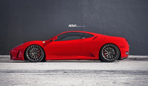 Novitec Ferrari F430 on ADV10.01 Wheels