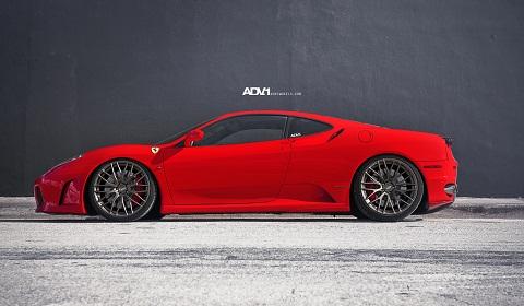 Novitec Ferrari F430 on ADV10.01 Wheels
