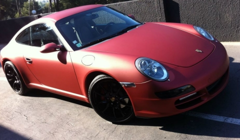 Porsche 911 Carrera S in Red Anodized Vinyl by Dartz Wrapping